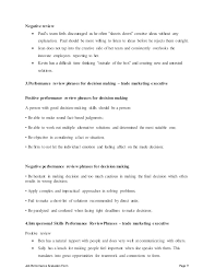 Trade Marketing Executive Perfomance Appraisal 2