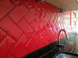 Red Brick Tiles Kitchen Metro Tiles Design Ideas