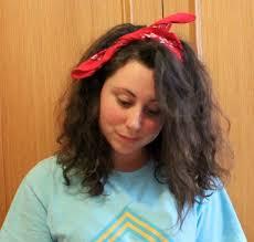 80s hair style curly bandana scarf bow
