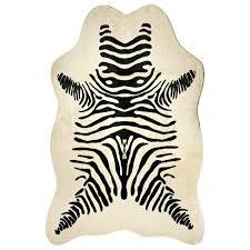animal skin shaped rugs lovely faux zebra hide rug uk