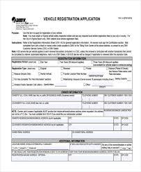 sle car registration forms in pdf