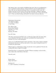 Block Form Business Letter Block Style Business Letter Template Sample
