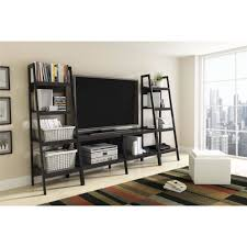 mainstays 3 piece home office bundle black. Ladder TV Stand And Bookcase 3 Piece Entertainment Center Bundle For TVs Up To 65\ Mainstays Home Office Black D