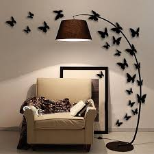 Home Decoration Accessories Wall Art Impressive Pvc Black Butterfly Halloween Wall Sticker Home Decoration