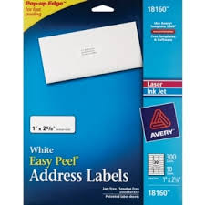 Avery 5261 Label Template Avery White Mailing Labels 1 X 2 5 8 Inch