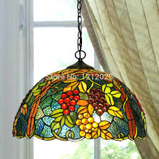 vintage hanging lamps style kitchen lighting re g pendant lamp dinning light bedroom stained glass lampshade shade