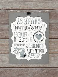 25 year anniversary gift silver wedding anniversary custom gift for husband wife 25th anniversary gift for pas dad anniversary