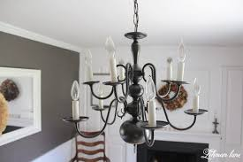 diy easy chandelier makeover with spray