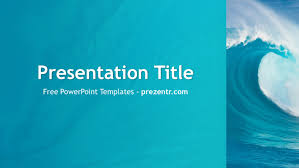 wave powerpoint templates free ocean waves powerpoint template prezentr