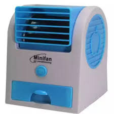 mini fan. Contemporary Mini USB Electric Air Conditioning Mini Fan Cooler Blue Intended N