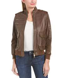 anine bing pilot leather jacket
