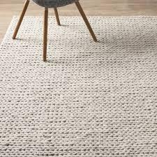 10x14 wool rug mercury row dunfee chunky hand woven wool off white area rug with rugs
