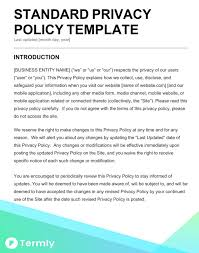 Privacy Policy Template | peanuts gallery bend