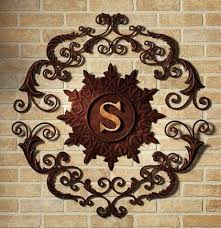 large iron scroll wall art
