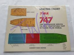 Pan American Center Seating Chart With Rows Twa Ambassador Service Seat Charts 1971 L1011 747