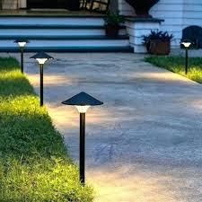 led walkway lights. Solar Led Path Lights Sidewalk Brilliant Outdoor Bamboo Powered Walkway