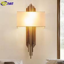 2018 fumaf metal copper pipe wall lamps modern bedroom bedside lamps wall lights for home hotel hallway decorative fabric wall sconce from goods520