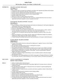 Trading Support Resume Samples Velvet Jobs