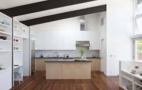 Parallel Kitchen Furniture Two Story Linear Maritimo House In Rio Grande Do Sul