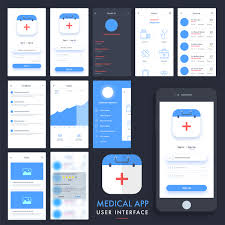 Medical App User Interface Template Vector Free Download