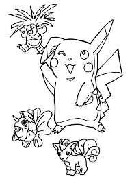 Pokemon Paradijs Kleurplaat Exeggutor Pikachu Goldeen En Vulpix