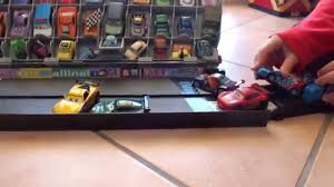 Disney Cars Fan Stand Display Case Disney Cars Mattel Pit Stop Launcher Raoul Caroule Fan Stand 29