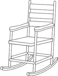 rocking chair clipart. Rocking Chair Clipart Image: Illustration Of A White