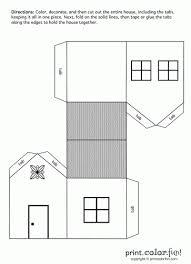 House Cutout Craft Print Color Fun Free Printables