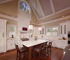 Kitchen Diner High Vaulted Ceiling Kitchen Diner With Brown Hardwood Floor Tiles