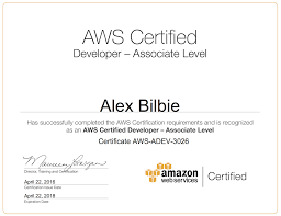 Amazon Web Services Developer Associate Certification