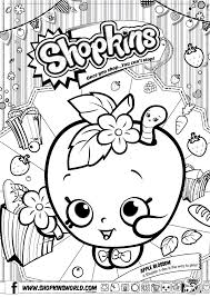 Shopkins Coloring Pages Getcoloringpagescom
