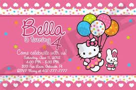 Hello Kitty Party Invitation Hello Kitty Birthday Party Invitation Custom Photo