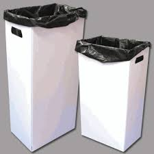disposable trash cans. Plain Trash Reusable Recyclable And Disposable 4mil Corrugated Plastic Trash Cans   6Medium Size Intended L