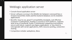 Oracle Weblogic Server Fundamentals 1 Introduction To Weblogic
