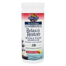 garden of life dr formulated magnesium relax re raspberry lemon 8 1 ounces