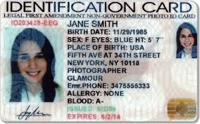 Intenartional Association By Cards Personal Identification Automobile