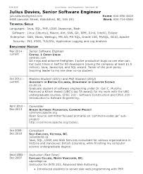 Engineering Resume Templates Word Software Engineer Template