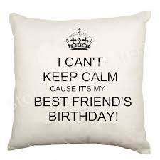 pillow gifts. aliexpress.com : buy best friend birthday cushion cover velvet happy bestie letter throw pillow case gifts love home decor 18\