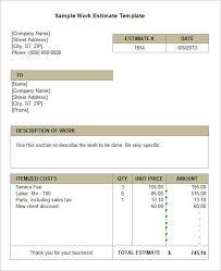 Work Estimate Templates 30 Job Estimate Template Pdf Simple Template Design