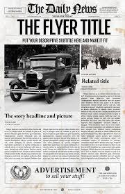 Newspaper Template Illustrator Illustrator Newspaper Template Flyer By Templates On