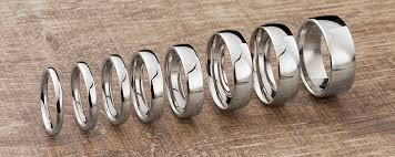 Wedding Rings Popular Wedding Ring Widths Shown On The Finger