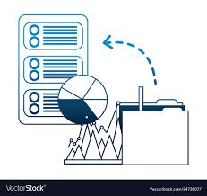 Database Server Folder File Report Pie Chart