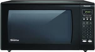 panasonic nn sn733b black 1250w countertop microwave oven with inverter technology 1 6 cu ft