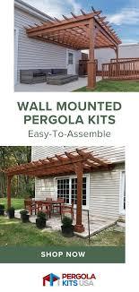 classic cedar pergola kit wall