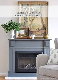 easy diy marble and brass fireplace hearth the painted hive