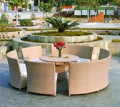 outdoor dining set round rattan table and chairs tg jw08