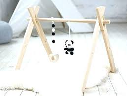 bamboo wooden baby gym frame activity play diy plans wood baby gym