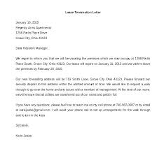 Termination Letter Template Generic Termination Letter Template Form Of Contract Example