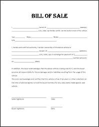 Sample Bill Of Sale Property Bill Of Sale Template