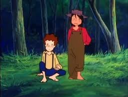 Image result for tom sawyer and huckleberry finn anime